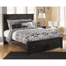 Maribel - Black 4 Piece Bed Set (Queen)