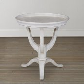 Butlers White Artisanal Round Lamp Table