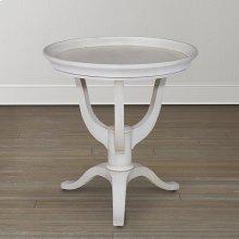 Hughes Grey Artisanal Round Lamp Table