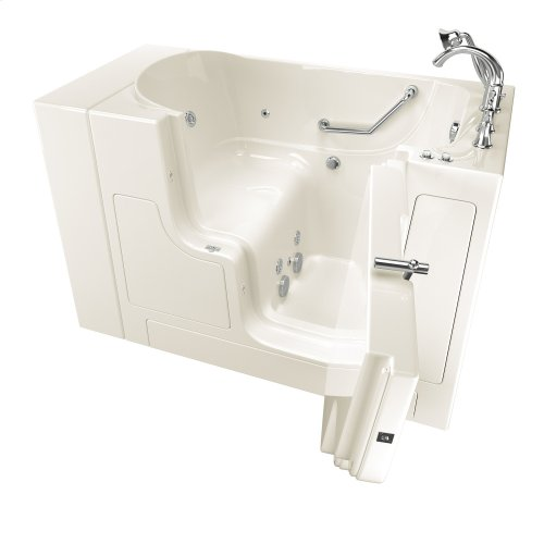Gelcoat Value Series 30x52-inch Outward Opening Door Walk-In Bathtub with Whirlpool Massage System  American Standard - Linen
