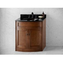 "Marcello 30"" Bathroom Vanity Cabinet Base in Café Walnut"