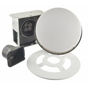 BroanRoomside Series Single Speed 110 CFM Decorative Bathroom Exhaust Fan with Round Flat Panel LED Light in Brushed Nickel, ENERGY STAR certified **COMING SOON**
