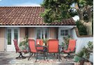 Apple Town - Burnt Orange 5 Piece Patio Set Product Image