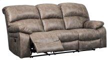 Dunwell Driftwood Power Reclining Sofa with Adjustable Headrest