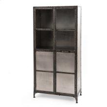 Antique Nickel Finish Element Cabinet