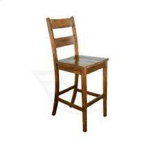 """30""""H Tuscany Ladderback Barstool w/ Wood Seat Product Image"""