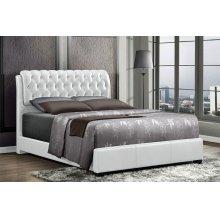 Barnes White Tufted Upholstered King Bed