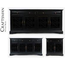"""Craftsman 50"""" Media Unit - Antique Black"""