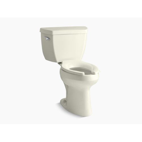 Biscuit Comfort Height Two-piece Elongated 1.0 Gpf Toilet With Pressure Lite Flush Technology and Left-hand Trip Lever