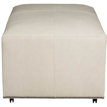 Lolo Square Ottoman in #44 Antique Nickel