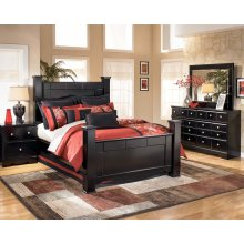Shay - Almost Black 8 Piece Bedroom Set