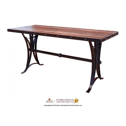 Counter Height Dining Table w/iron Base