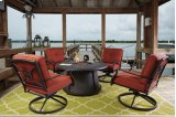 Burnella - Brown 4 Piece Patio Set Product Image