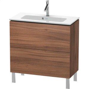 Vanity Unit Floorstanding Compact, Natural Walnut (decor)