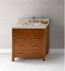 """Kali 31"""" Bathroom Vanity Base Cabinet in Cinnamon"""