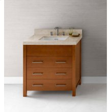 "Kali 31"" Bathroom Vanity Base Cabinet in Cinnamon"