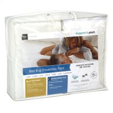 Sleep Calm 4-Piece Bed Bug Prevention Pack Plus with Pillow Protectors, Mattress and Zippered Box Spring Encasement, Full XL