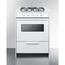 "24"" Wide Slide-in Gas Range In White With Sealed Burners, Oven Window, Light, and Electronic Ignition; Replaces Wnm616rw/wtm6107swrt"
