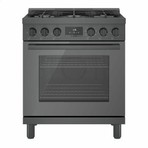 Bosch800 Series Dual Fuel Freestanding Range 30'' Black Stainless Steel HDS8045U