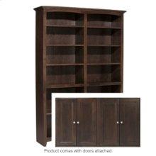 """CAF 72""""H x 48""""W McKenzie Alder Bookcase w/doors"""