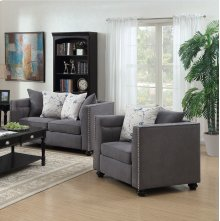 Winslow Gray Fabric Loveseat