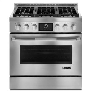 "Jenn-AirPro-Style® 36"" Gas Range with MultiMode® Convection Stainless Steel"