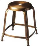 This bronze finished iron stool has a simple vintage design that looks amazing in modern spaces. It is sturdy, yet lightweight with a lightly distressed finish that will offer function and beauty to any space. Product Image
