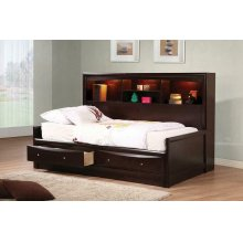 Phoenix Transitional Cappuccino Full Bed