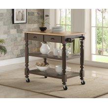 Payson Grey Kitchen Cart