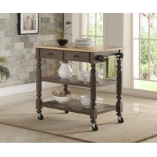 Payson Grey Kitchen Cart