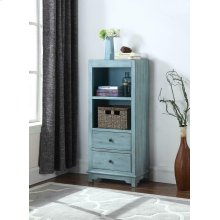 Rustic Blue Accent Cabinet