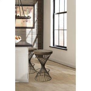 Hillsdale FurnitureKanister Backless Bar Stool - Walnut/dark Pewter