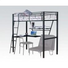 Silver/bk Loft Bed W/desk @n