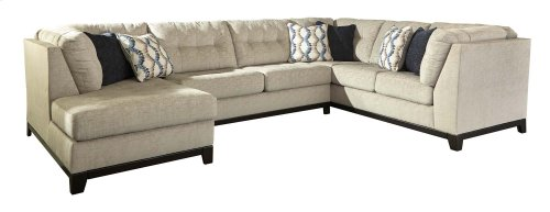 Beckendorf - Chalk 3 Piece Left Chaise, Right Sofa, Armless Sleeper Sectional