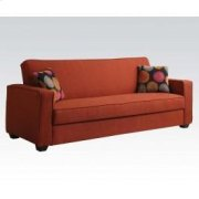 Red Linen Adjustable Sofa @n Product Image