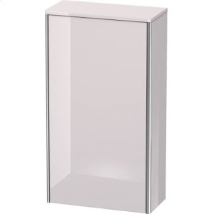 Semi-tall Cabinet, White Lilac High Gloss Lacquer