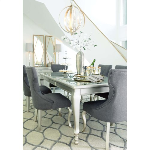 Coralayne - Silver Finish Set Of 2 Dining Room Chairs