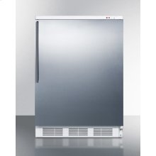 Freestanding Medical All-freezer Capable of -25 C Operation, With Wrapped Stainless Steel Door and Thin Handle