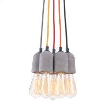 Faith Ceiling Lamp Concrete Gray
