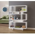 Contemporary White Geometric Bookcase Product Image