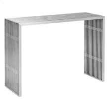 Novel Console Table Brushed Stainless Steel