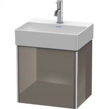 Vanity Unit Wall-mounted, Flannel Gray High Gloss Lacquer