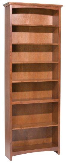 """GAC 84""""H x 30""""W McKenzie Alder Bookcase in Antique Cherry Finish"""