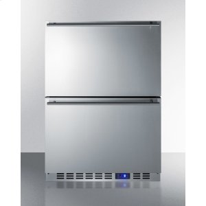 SummitTwo-drawer Outdoor Frost-free All-freezer In Stainless Steel, Commercially Listed for Built-in or Freestanding Use
