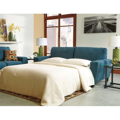 Queen Sofa Sleeper Sagen Teal Collection Ashley At Aztec Distribution Center Houston Texas