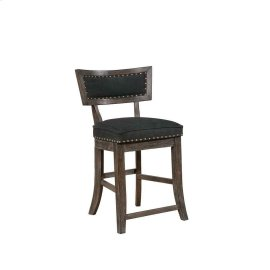 Rustic Black Counter-height Dining Chair