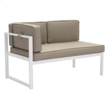 Golden Beach Chaise Lhf White & Taupe