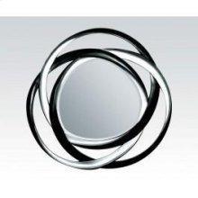 "Bk/silver Accent Mirror, 51""d"