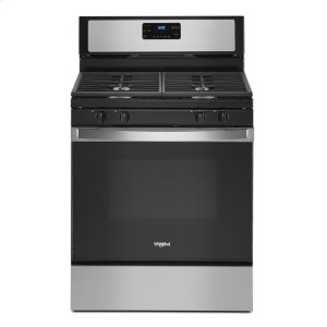 5.0 cu. ft. Whirlpool® gas range with SpeedHeat burner - STAINLESS STEEL