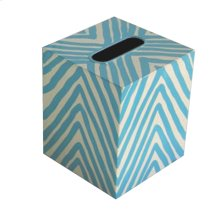 Kleenex Box Turquoise and Cream ZEBRA.